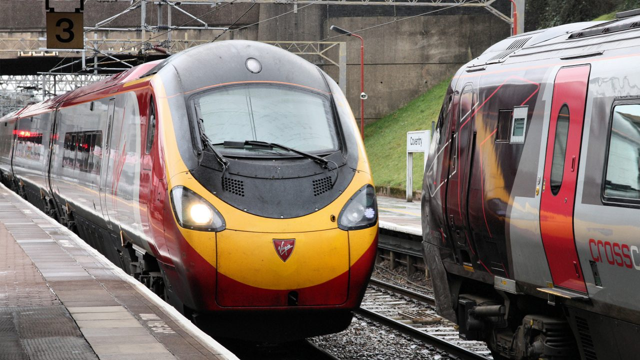 Pendolino train of Virgin Trains on March 12, 2010 in Coventry, UK