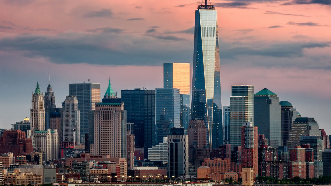 Lower Manhattan and One World Trade Center