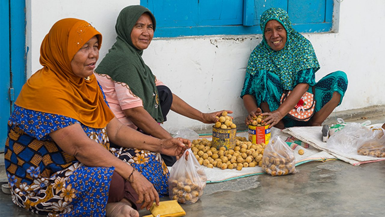 A group of women from Ampana in Central Sulawesi, Indonesia
