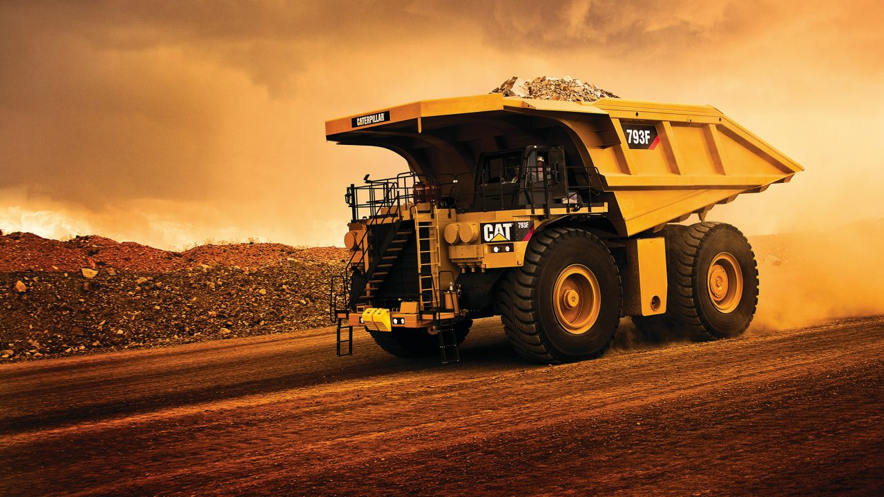 CAT truck vehicle mining