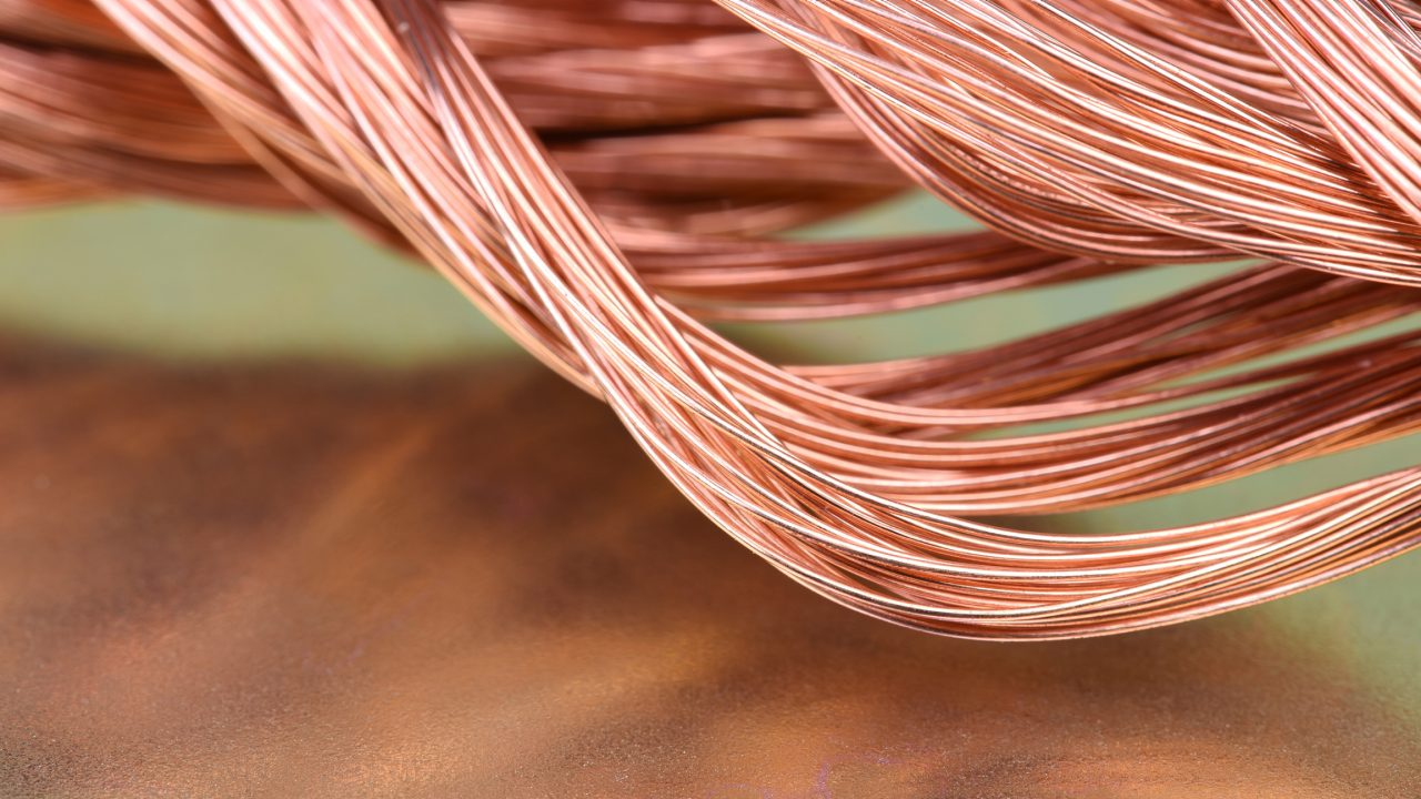 Copper wire close up