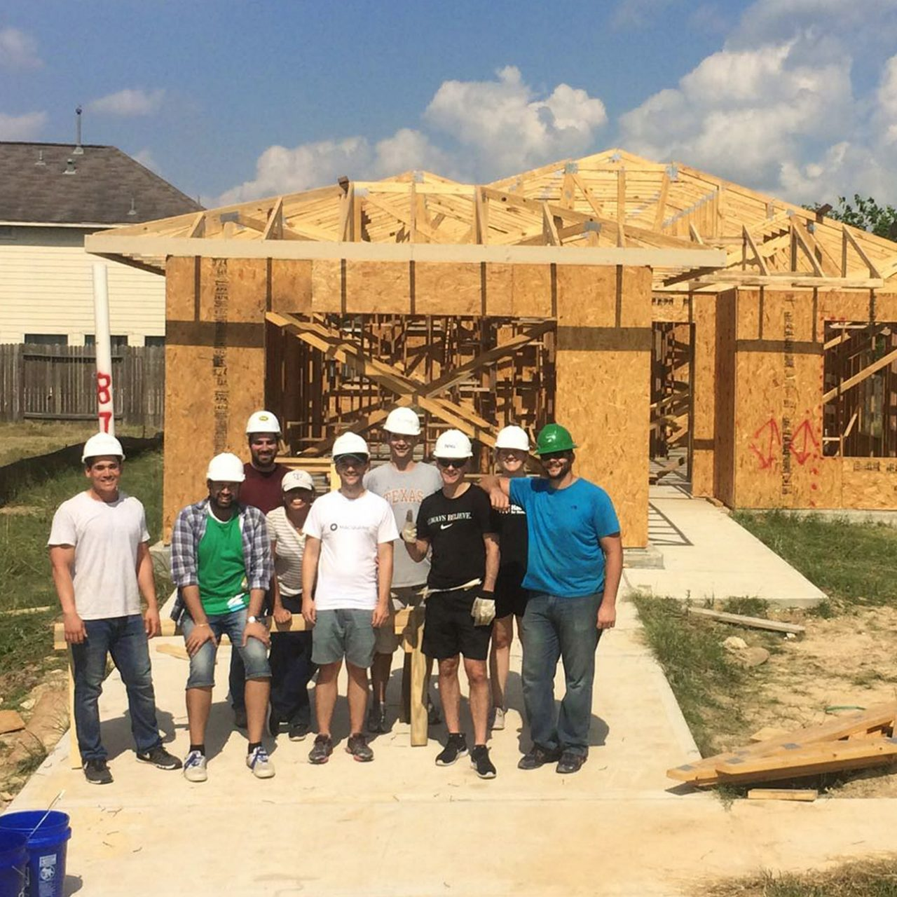 Houston staff helped build a home for people in need