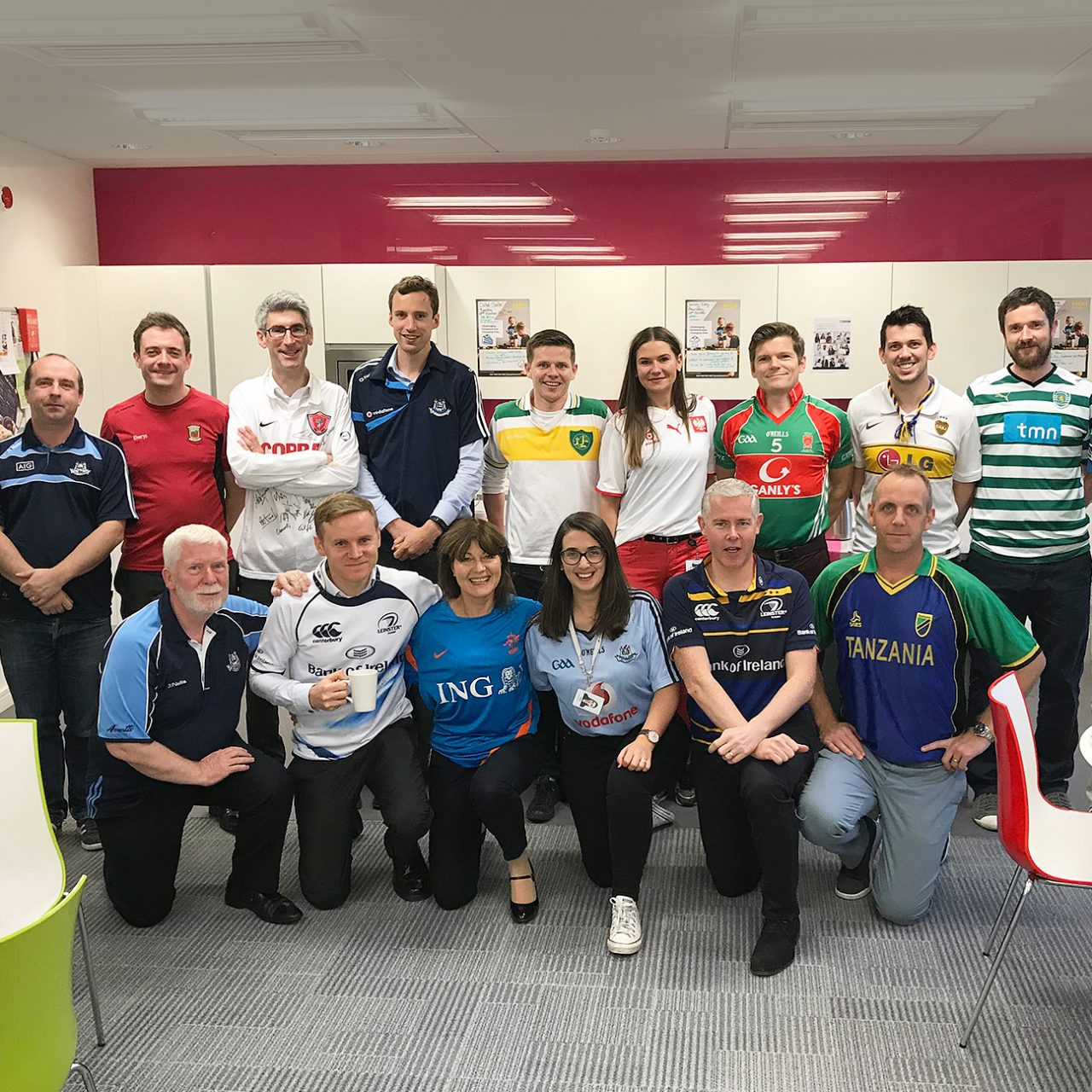 Dublin staff wear their favourite sporting jersey to win the most devoted fan and support local homeless people