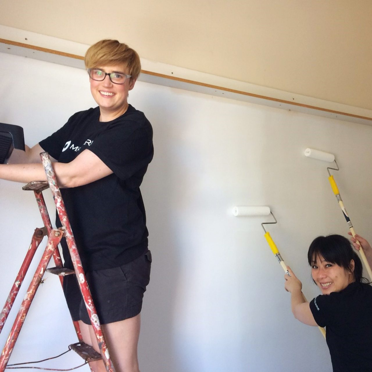 Melbourne staff spent two afternoons painting a room at the Raise Foundation's Melbourne office
