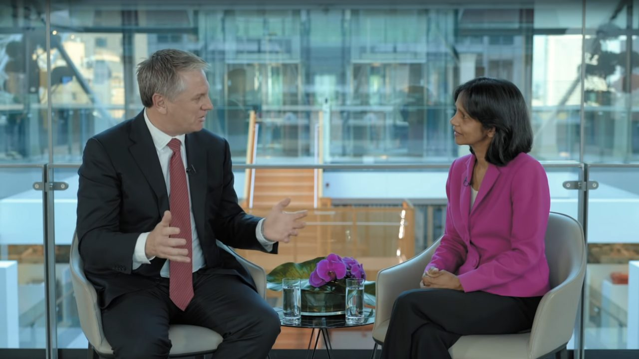 Macquarie Chief Economist and Head of Macro Strategy: Ric Deverell; and Macquarie Group Managing Director and CEO: Shemara Wikramanayake