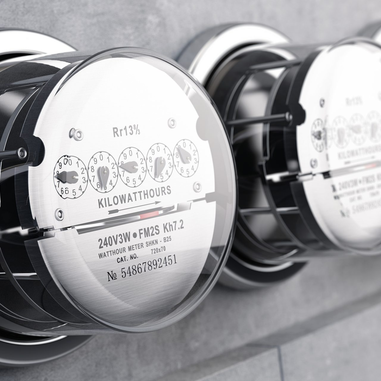 Kilowatt hour electric meters, power supply meter