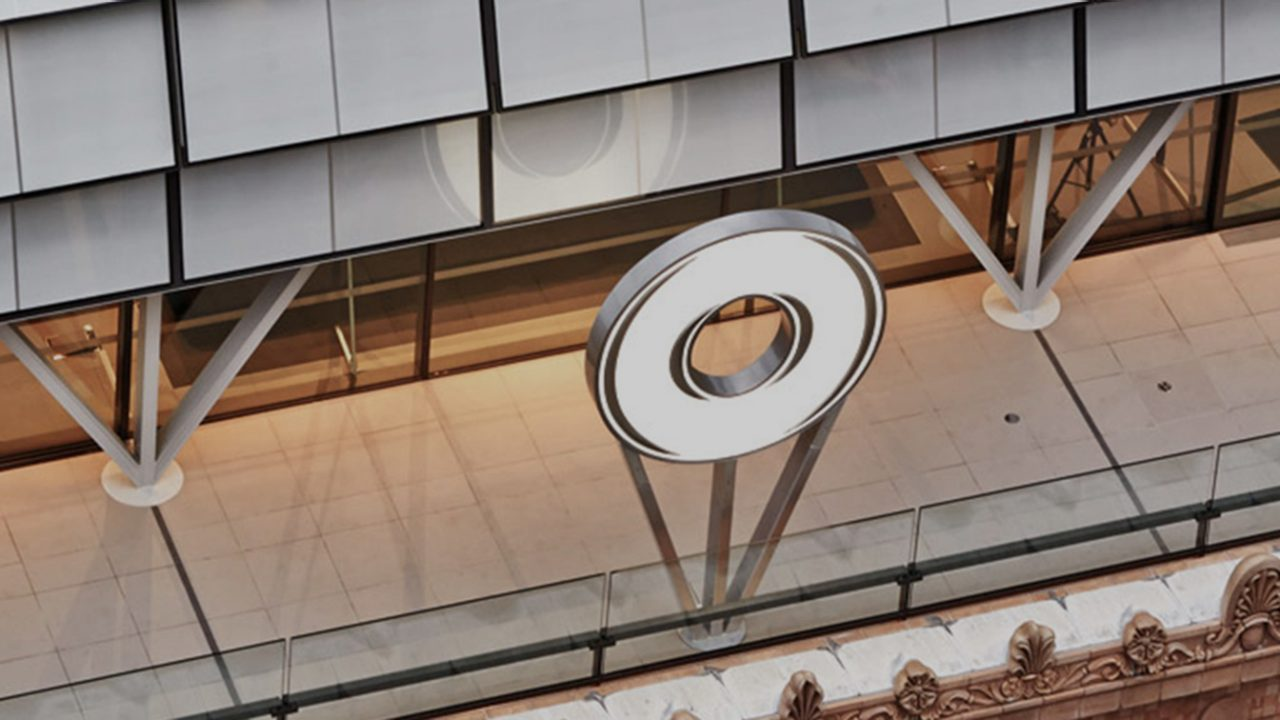 Physical Macquarie logo atop of 50 Martin Place