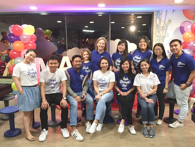 During 2017 Foundation Week, Manila staff held a fundraising event for the Make a Wish Foundation